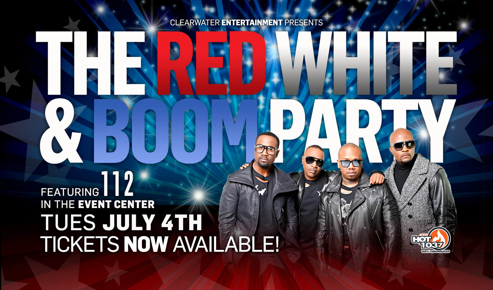 Red, White & Boom - FEATURING 112! Clearwater Casino Resort